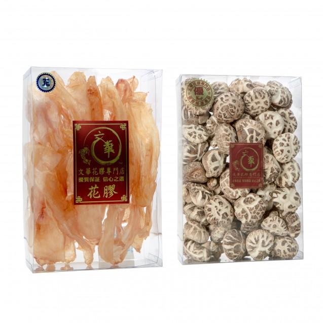 New Zealand Dried Fish Maw - 600g (25-35pcs), comes with Dried Mushroom